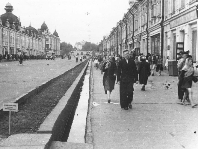 Улица Ленина. Фото М.В. Горохова. 1940-е гг.